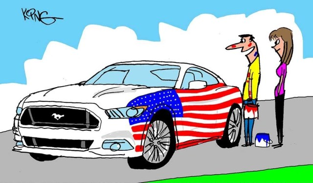 4th of July Mustang