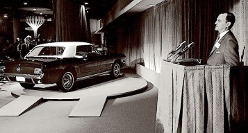 Lee Iacocca introduces the new 1965 Ford Mustang