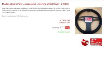 """Enos 15"""" Steering Wheel cover"""