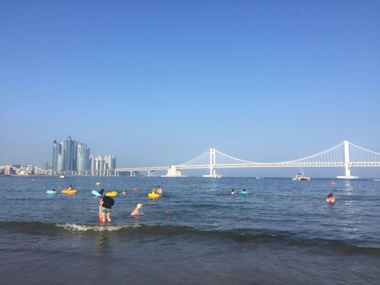 Diamond Bridge on Gwangali Beach in Busan
