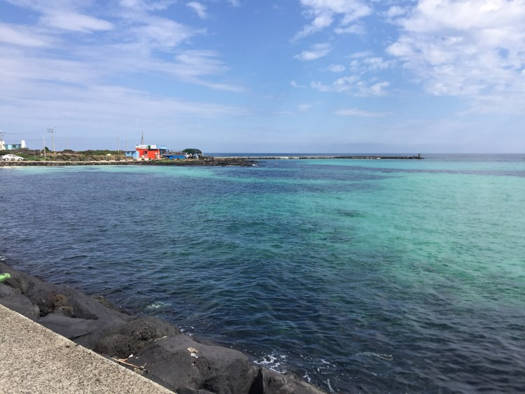 Beautiful clear waters of Jeju Island's beach fronts