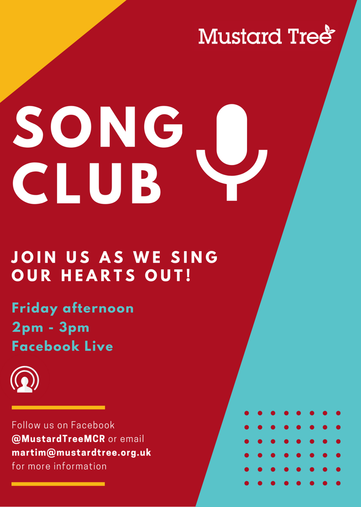 Song Club Live: Friday 9th October, 2pm
