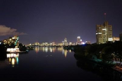 Walking across the BU Bridge - and walking in general in Boston