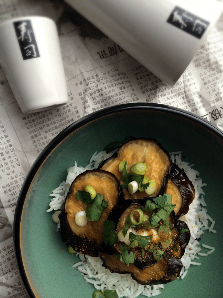 Miso and eggplant = great combo