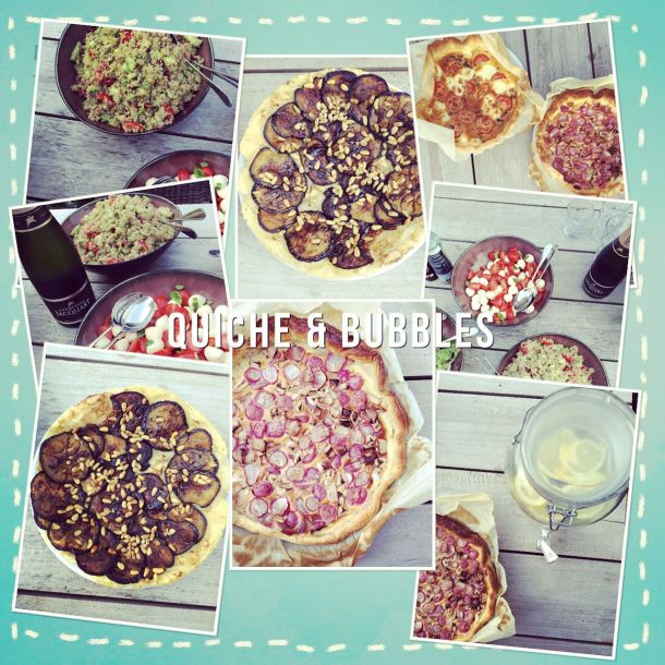 Quiche & Bubbles – an all veggie night