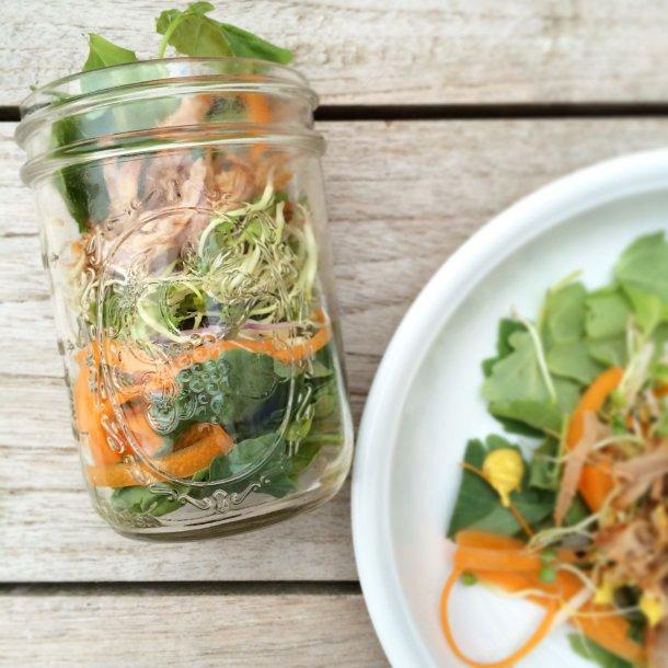 Pulled Pork Kale Salad