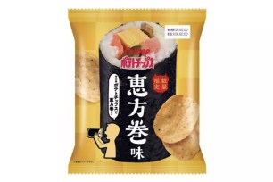 LAWSON便利商店數量限定♬1月22日上市!卡樂比洋芋片「洋芋片 惠方卷口味」