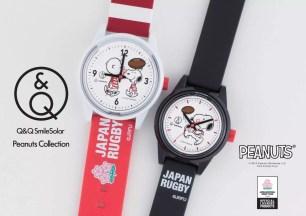日本CITIZEN旗下品牌「Q&Q SmileSolar」4款限量史努比x橄欖球日本代表聯名腕錶