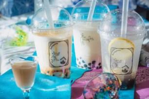 日本酒専售店「蔵よし(KURAYOSHI)有楽町店」夏季限定☆「甘酒珍珠奶茶」