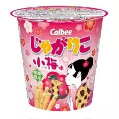 卡樂比Calbee期間限定零食☆Jagabee 完熟梅味+聯名 Jagarico 小梅味