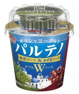 森永乳業☆和風雙醬新享受「希臘式優格 PARTHENO W醬 抹茶醬&紅豆醬」