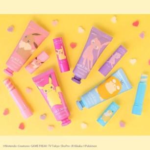 美妝品牌「Lovisia」♡Pokémon Gift Cosme Series護唇膏、護手霜