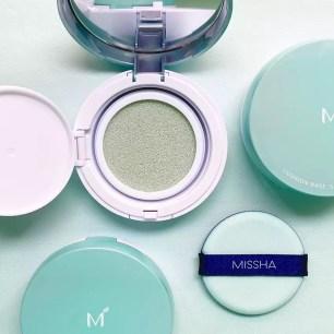 能修飾泛紅、提亮膚色!數量限定MISSHA「氣墊粉餅(薄荷綠)」再度販售