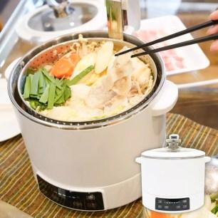 可將食材與湯底分離的鍋內電梯!日本THANKO「電動昇降多用途烹調鍋」