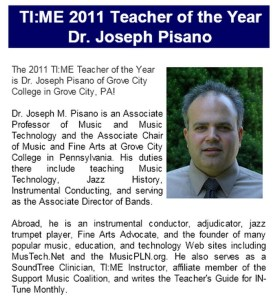 TI:ME Music Education Technology Teacher of the Year