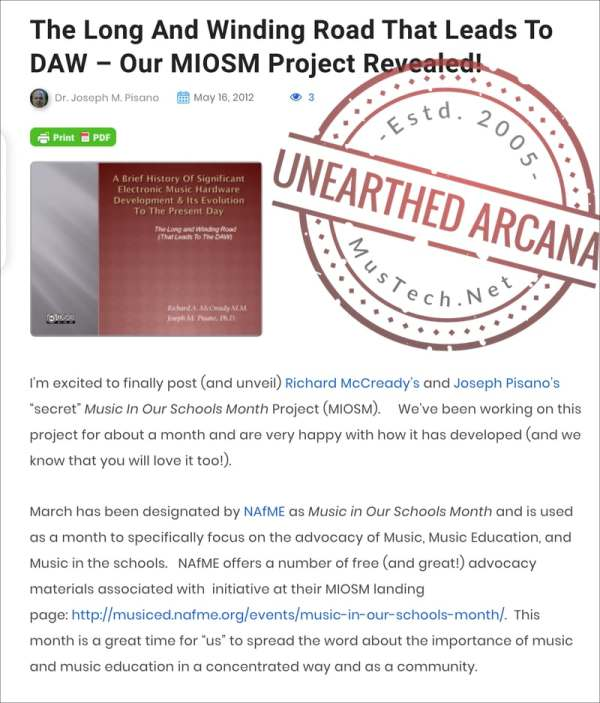 Image of Unearthed Arcana and MIOSM project.