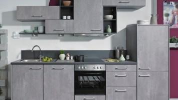 Küche in moderner Betonoptik