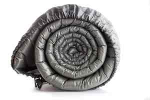 Gray plastic camp air mattress