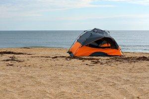 Camping on a Florida beach
