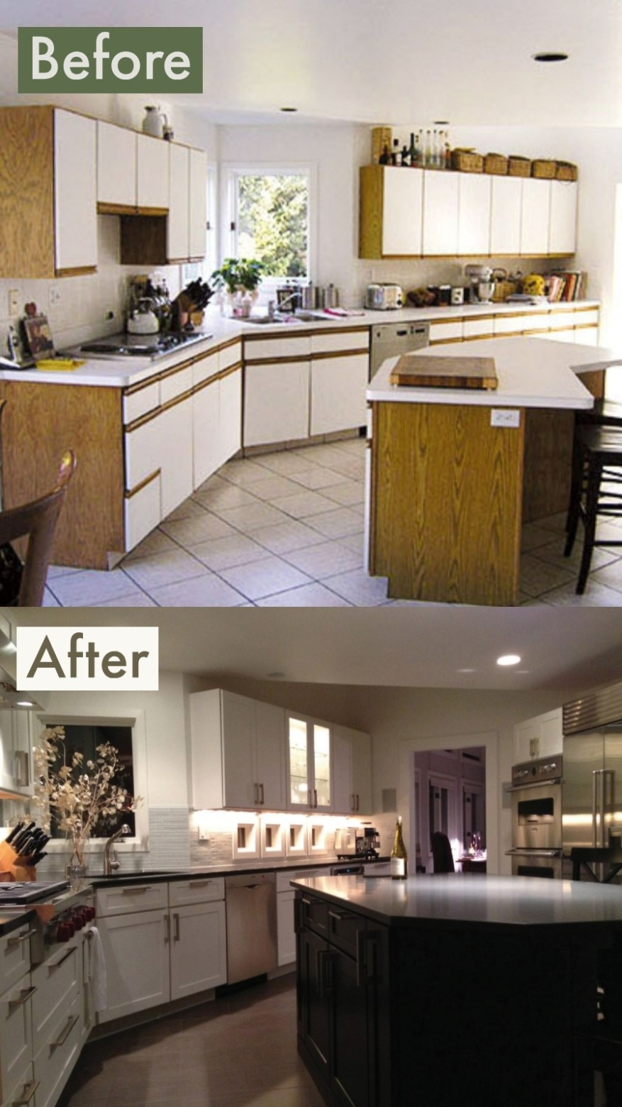 kitchen remodels before and after pictures