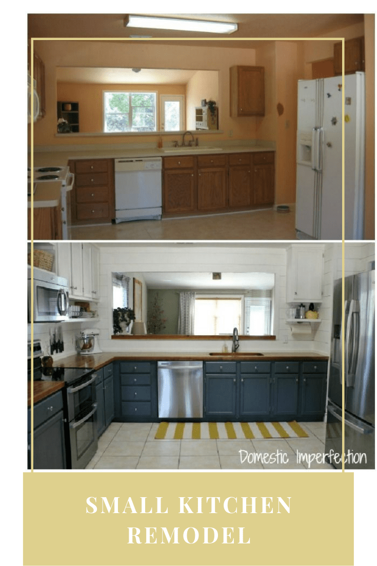 30+ Small Kitchen Remodel Ideas Before and After (2019 Trend ...
