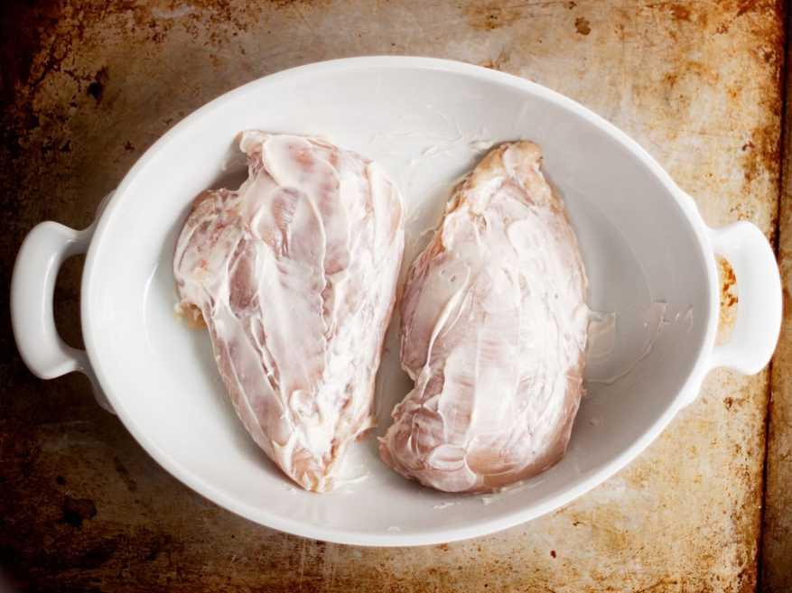 boiled boneless chicken breast