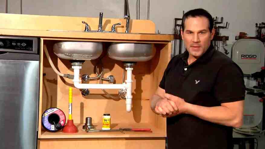 how to remove kitchen sink drain