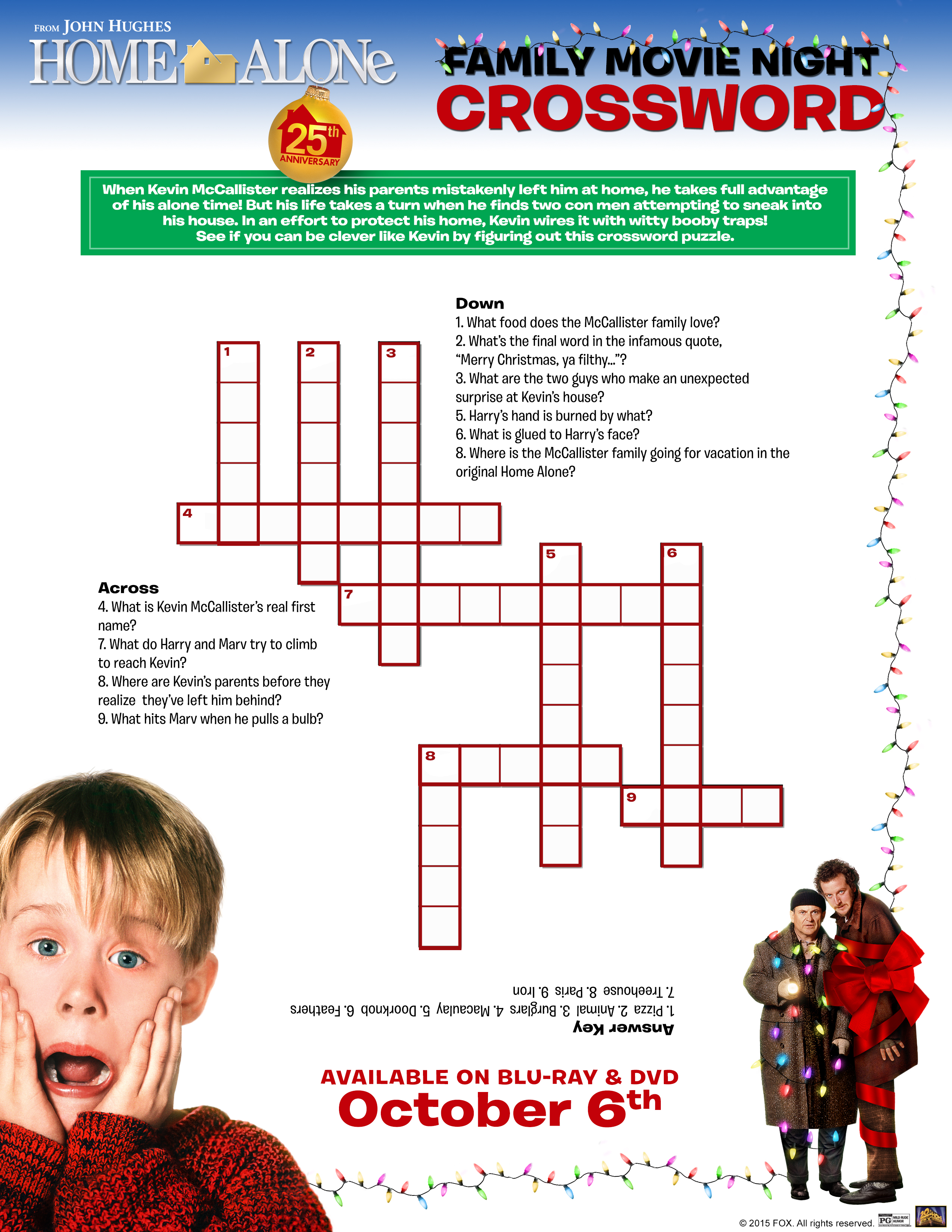 Free Home Alone Activity Printables