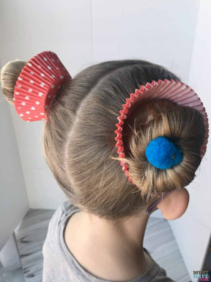crazy hair day ideas girls cupcake hairdo - must have mom