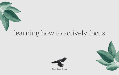 learning how to actively focus