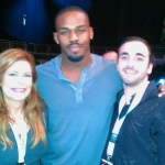 Susan Cingari with Jon Jones and Justin Birsky at CFA fights in Miami