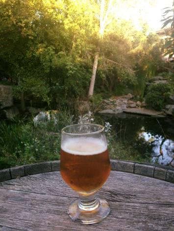 Stone Brewery gardens beer