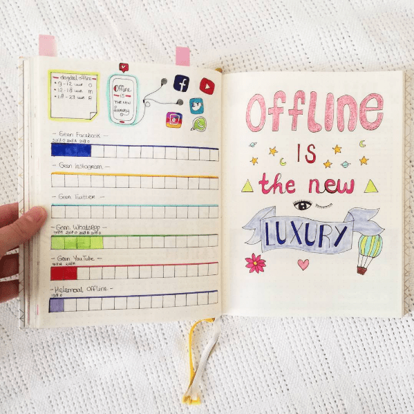bullet journal social media tracker offline is the new luxury