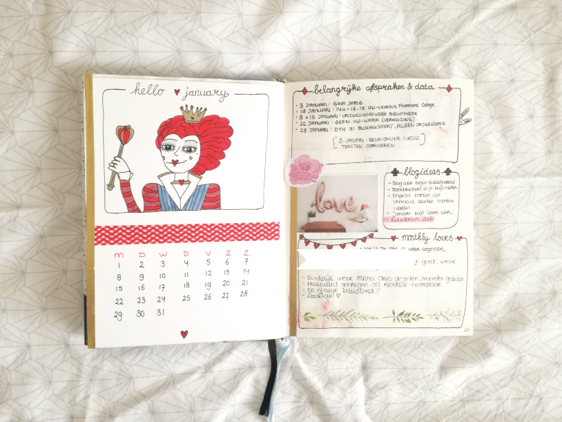mijn bullet journal januari 2018