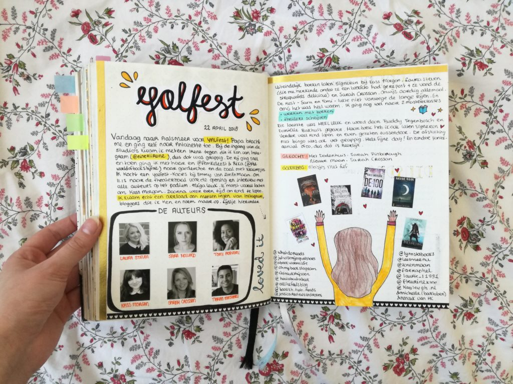 bullet journal April yalfest