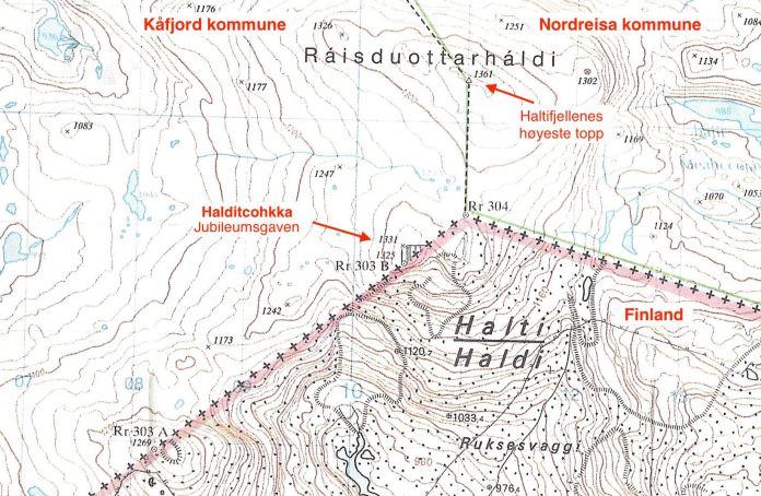 Гора Халти на карте. Фото: facebook.com