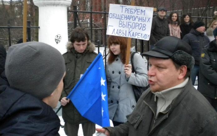 Когда в декабре 2011 года по всей стране прокатились гражданские акции за честные выборы, в Карелии потребовали проведения общенародных выборов главы республики. Фото: Валерий Поташов