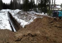 Труба газопровода в районе улицы Рождественского в Петрозаводске. Фото: facebook.com