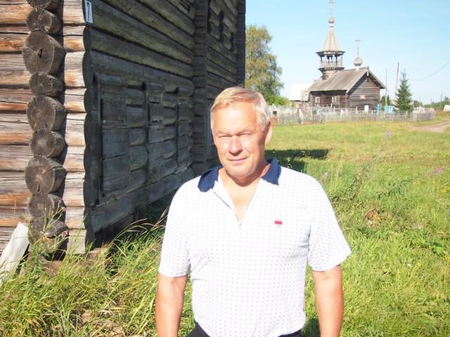 Староста исторической деревни Пяльма Петр Поташев баллотируется в парламент Карелии. Фото: Валерий Поташов