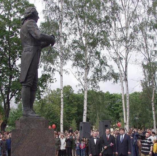 Открытие памятника Державину в Петрозаводске. Фото: gov.karelia.ru