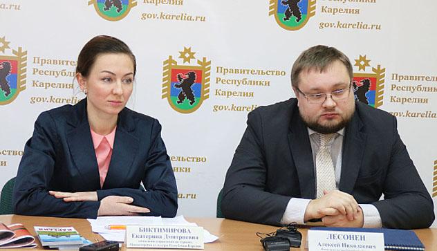 Руководство Минкультуры Карелии на брифинге в республиканском правительстве. Фото: gov.karelia.ru