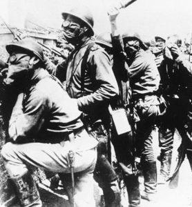 Солдаты Русского экспедиционного корпуса во Франции. Архивное фото