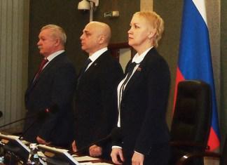 Руководство парламента Карелии, вице-спикер Андрей Мазуровский - крайний слева. Фото: Валерий Поташов