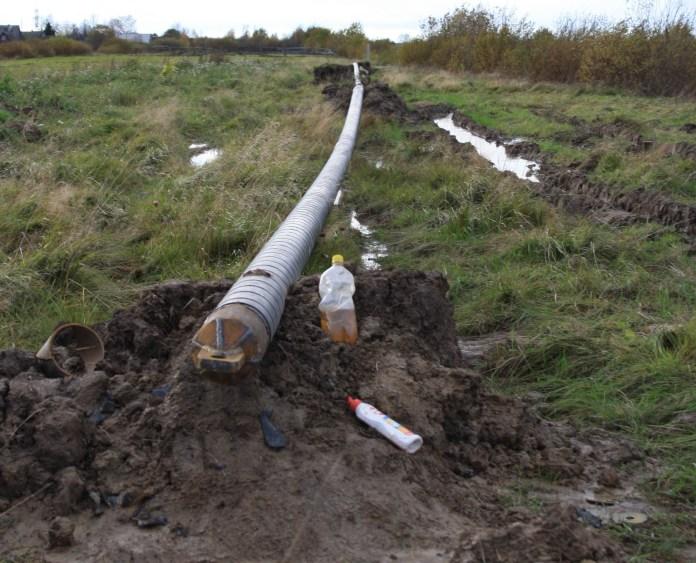 Строительство газопровода. Фото: Черника