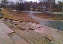 Лестница у Галереи героев в Петрозаводске. Фото: Черника