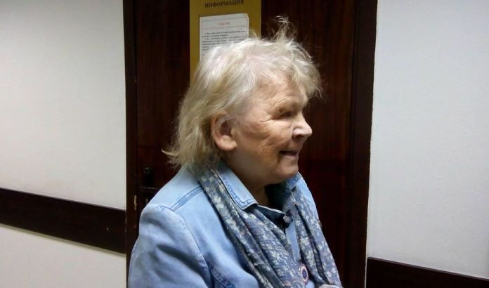 Мариэтта Чудакова в коридоре городского суда Петрозаводска. Фото: Валерий Поташов