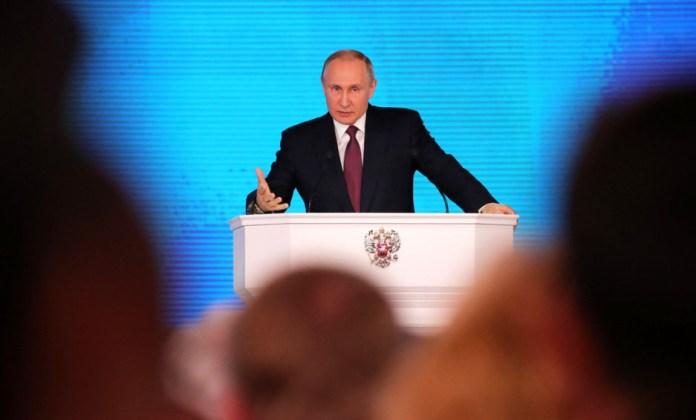Выступление Путина с Посланием Федеральному Собранию. Фото: kremlin.ru