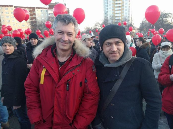 Мэр Екатеринбурга Евгений Ройзман на митинге против отмены прямых выборов главы города. Фото со страницы Евгения Ройзмана в социальной сети Facebook