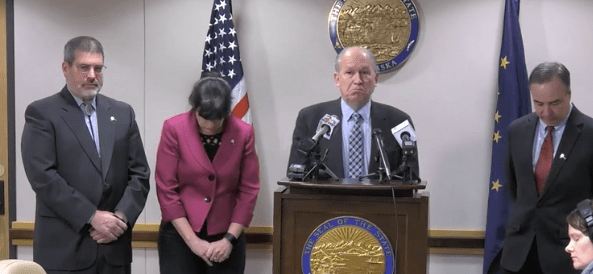 Governor Walker made an announcement in March that things were not going that well on the gasline. The partners stood by stoically.