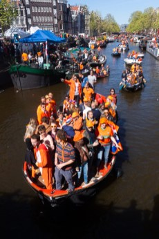 Visit Holland on the Dutch King's Day by boat